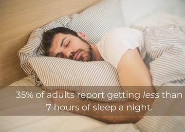 Man Asleep in Bed